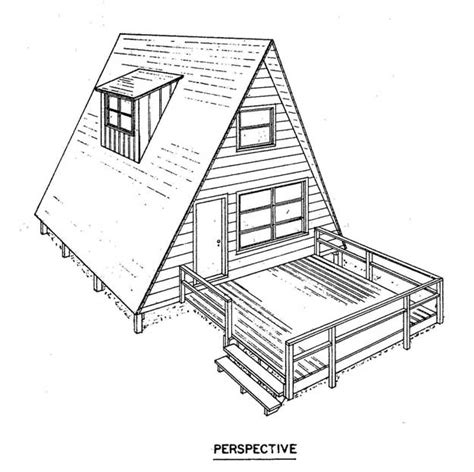 a frame blueprints free a frame house plan with deck