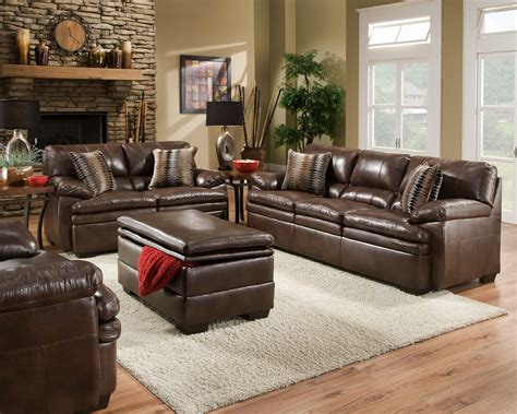 casual living room chairs brown bonded leather sofa set casual living room furniture