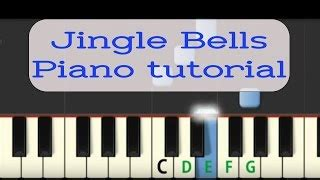 tutorial piano jingle bells как играть на пианино quot jingle bells quot автомобили на видео
