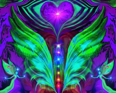 Trippy Wall Murals chakra art energy healing reiki angel quot spread your wings
