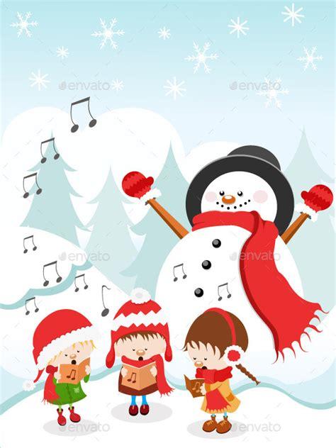 kids singing christmas carols by pinarince graphicriver