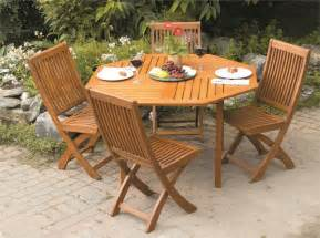 patio table sets folding outdoor: outdoor furniture wood patio set folding garden furniture