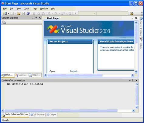 tutorial visual web developer 2008 visual studio 2008 express edition tutorial