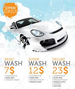 Car Wash Flyer Template by Auto Detailing Flyer Template Car Wash Flyer Templates