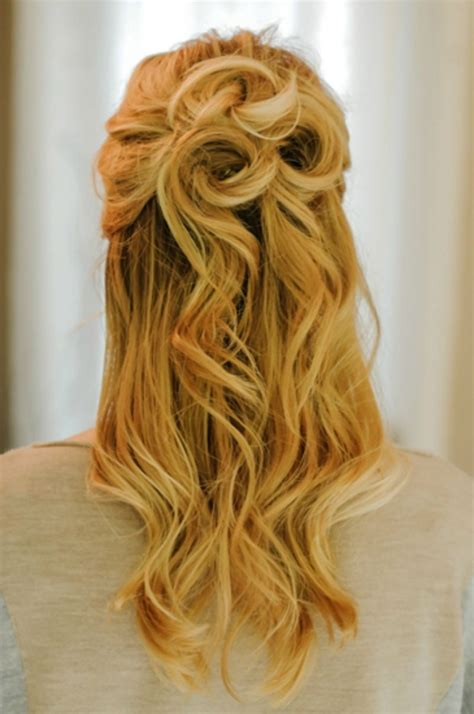 prom hairstyles half up half down curly medium hair prom hairstyles half up half down hairstyle ideas magazine