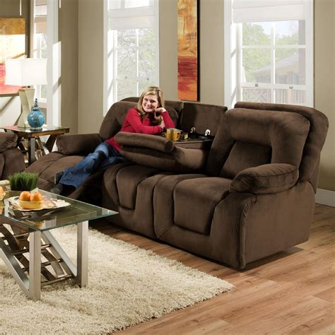 franklin reclining sofa with drop down table franklin 473 power double reclining sofa with drop down