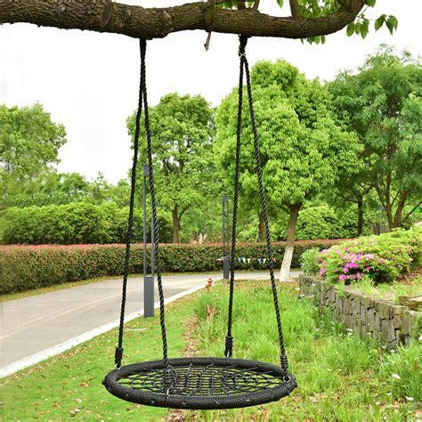outdoor baby swing 31 5 quot kid tree swing net outdoor garden children