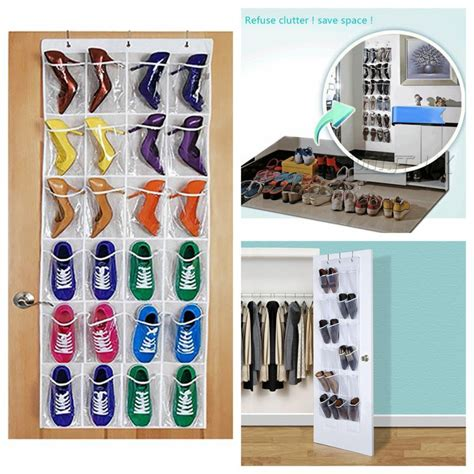 24 pockets the door hang 24 pockets door hanging bag box shoes organize rack