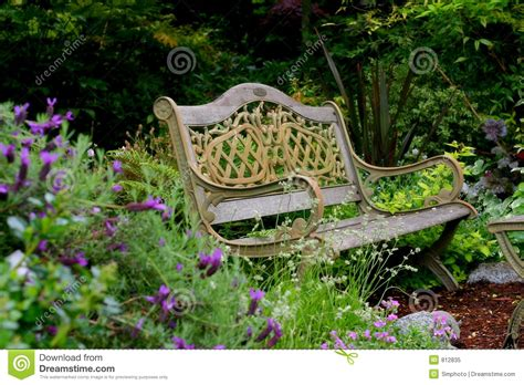 bench in garden garden bench royalty free stock photo image 812835