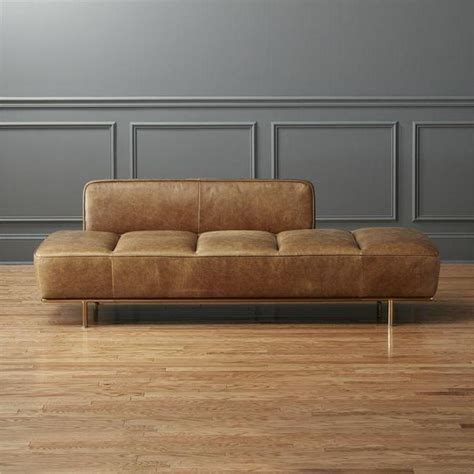 day couch brown lawndale leather daybed