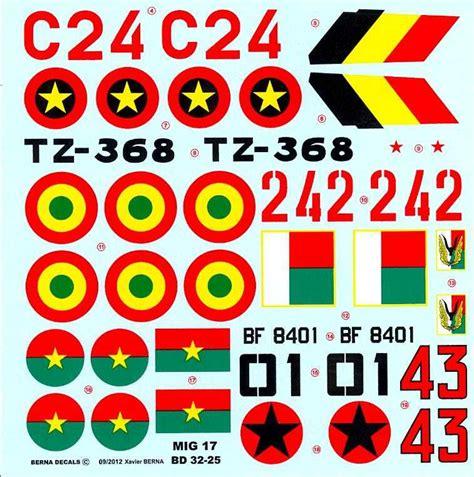 Berna Set Black Mininos berna decals 1 32 mikoyan mig 17 fresco fighter air forces ebay