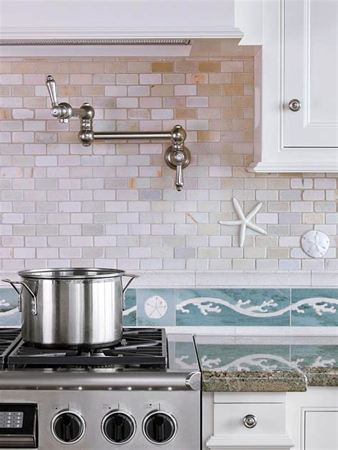 Frugal Kitchen Makeover - 10 beach backsplash ideas sand and sisal