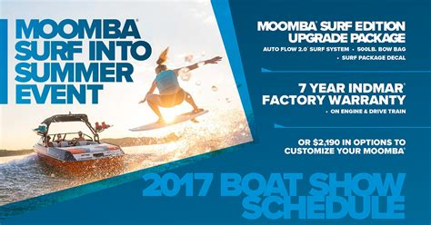 rv and boat show atlanta ga moomba surf into summer event and boat show schedule