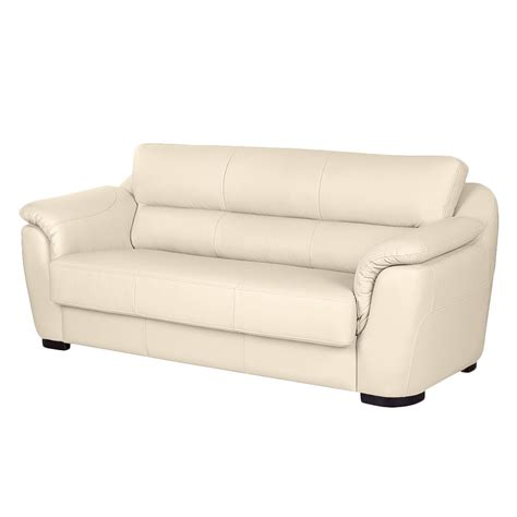 sofa guenstig sofa alzira 3 sitzer echtleder beige nuovoform