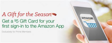 Amazon Prime Gift Card Code - hot amazon prime members download the amazon app get a 5 amazon gift card