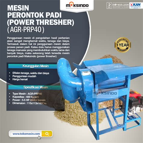Power Lifier Di Surabaya jual mesin perontok padi power thresher di surabaya