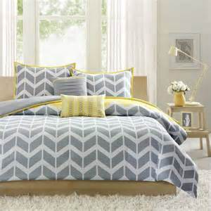 grey duvet cover intelligent design yellow grey chevron duvet cover