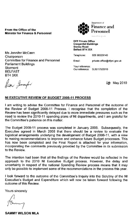 Hitachi Finance Welcome Letter Welcome To The Northern Ireland Assembly Report On The Preliminary Inquiry Into Sector