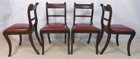 Dining Chairs Styles Set Of Six Antique Regency Style Mahogany Dining Chairs