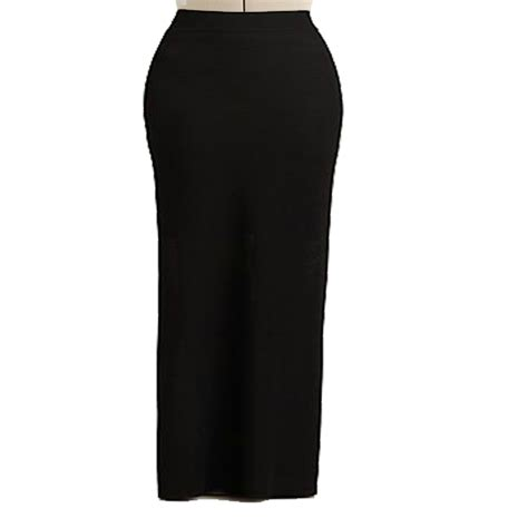 black spandex maxi skirt custom fit handmade spandex