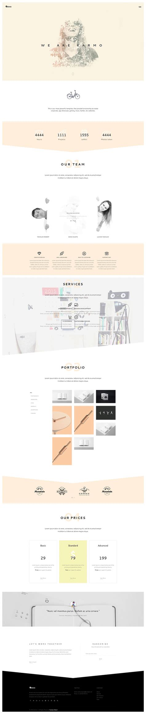 Karmo A Free Html Templates For Agencies And Creatives Freebiesbug Website Code Template