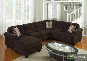 Corduroy Sectional Sofa 3 Pc Modern Brown Corduroy Sectional Sofa Living Room Set Tbqs727p3