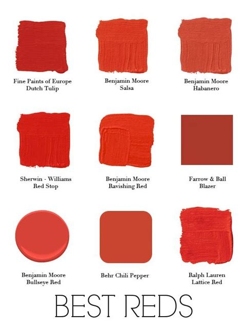 the right shade of red 25 best ideas about red paint colors on pinterest