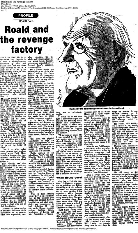 Roald Dahl Day: Tales from the archive | From the Guardian