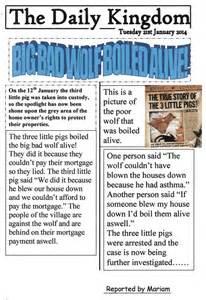 Ks1 Newspaper Report Writing by Newspaper Homework Ks1