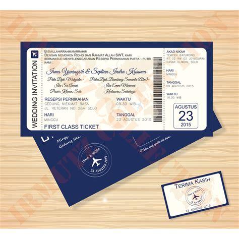 Undangan Ultah Tema Tiket Pesawat undangan tiket pesawat boarding pass murah bolak balik