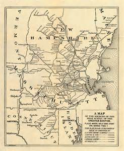united states map boston map of of the sources of the milk supply of the greater