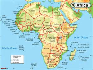 Map Of Africa With Rivers by Pics Photos Physical Map Africa Rivers