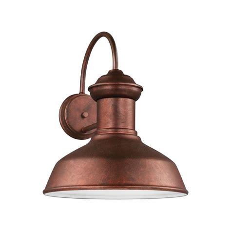 sea gull lighting fredricksburg 1 light outdoor barn sea gull lighting fredricksburg 1 light weathered copper