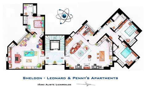 the big bang theory apartment in 3d homebyme