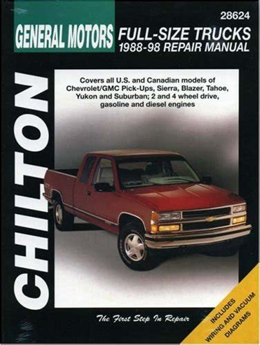chilton car manuals free download 1988 mitsubishi truck parking system read online general motors full size trucks 1988 98 repair manual chilton automotive