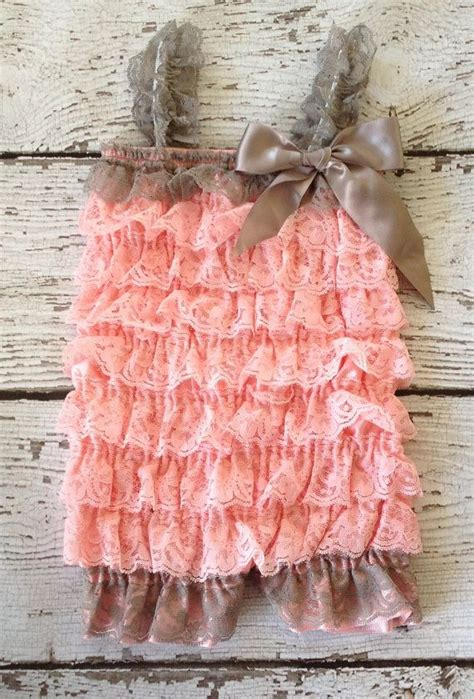 17 best images about lace petti rompers www pink gray petti lace romper lace romper baby romper
