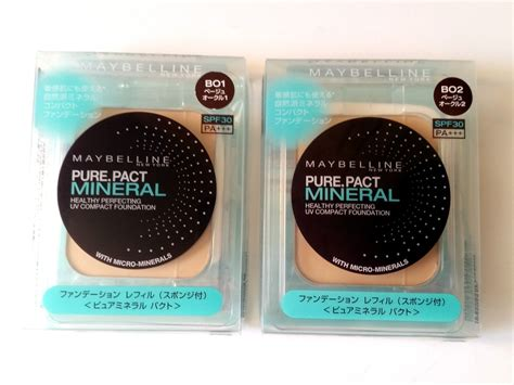 Maybelline Refill maybelline pressed powder pact mineral b01 or b02