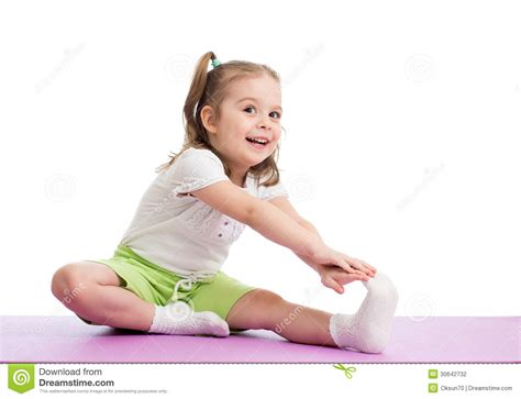 Photography Studio Floor Plans by Kid Doing Fitness Exercises Stock Photography Image