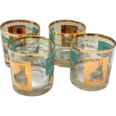 southern comfort on the rocks libbey southern comfort set of four 22k gold and aqua