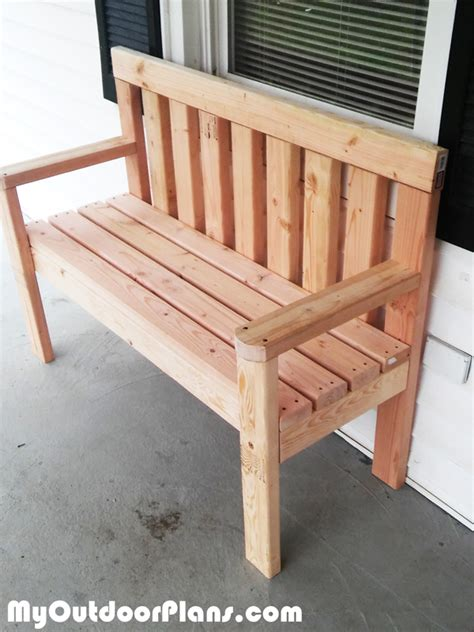simple wooden bench plans free diy simple garden bench myoutdoorplans free