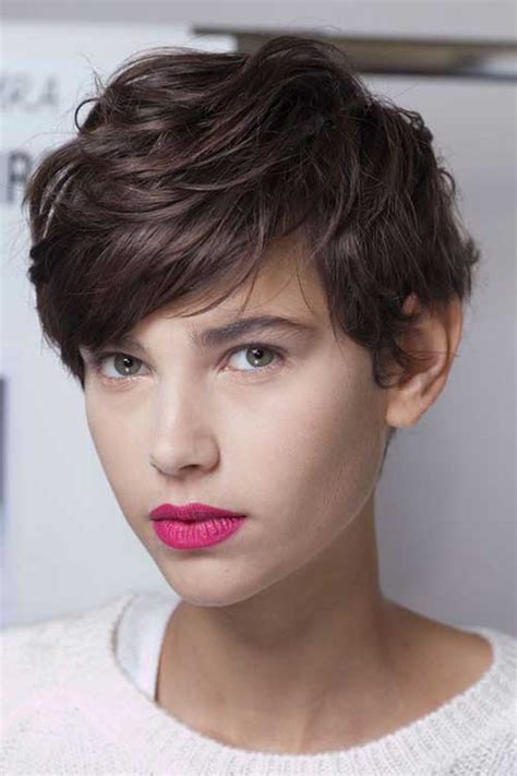 haircuts for curly hair that can be straightened 10 dark brown pixie cut pixie cut 2015