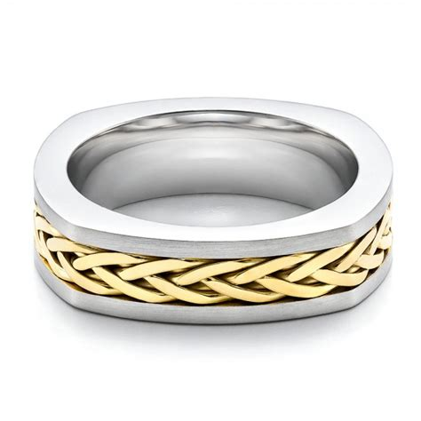 s braided two tone wedding band 100121 bellevue
