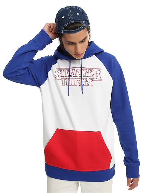 Hoodie Huk Redmerch things blue white logo hoodie topic
