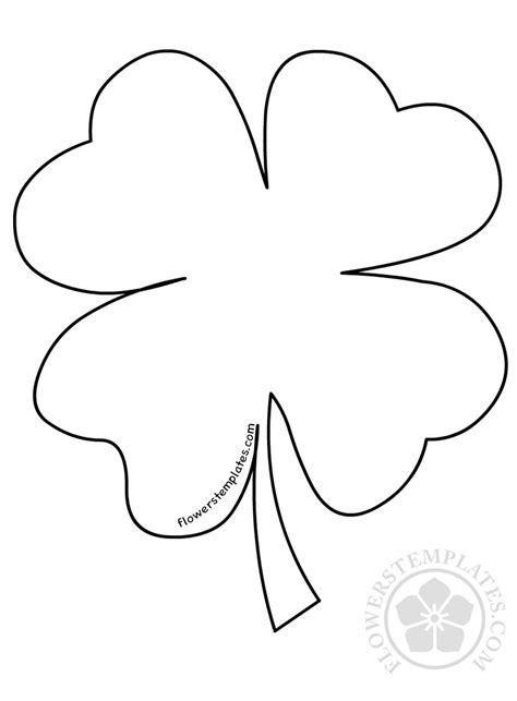 st s day four leaf clover template flowers templates