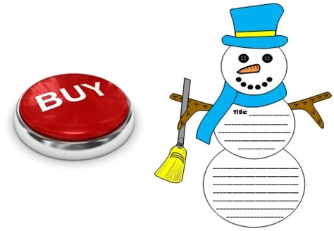 snowman book report template winter teaching resources and lesson plans for