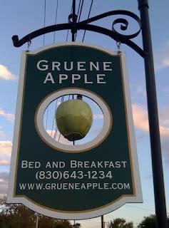 gruene apple bed breakfast gaffney goes green the gruene apple
