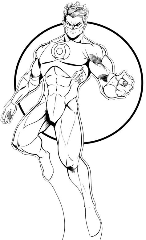 Free Coloring Pages Of Do Green Lantern Green Lantern Coloring Page