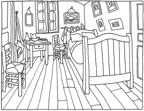 bedroom for coloring van gogh s bedroom in arles finding perspective
