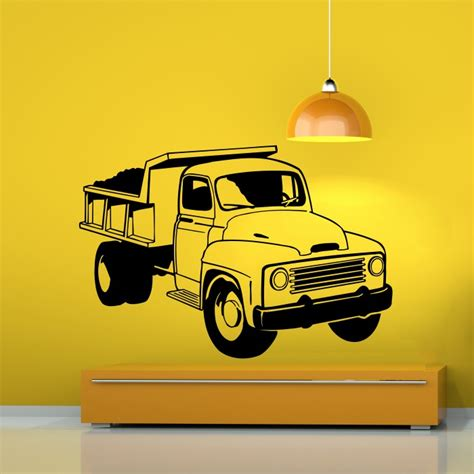 truck wall stickers truck vinyl wall sticker cutzz