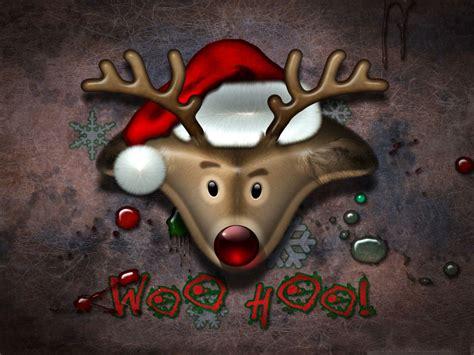 christmas computer wallpaper christmas reindeer computer